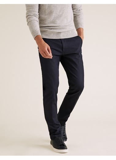 Marks & Spencer Slim Fit Chino Pantolon Lacivert